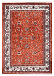 Casa Padrino Living Room Carpet with Oriental Ornaments Rust / Multicolor - Various Sizes