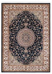 Casa Padrino Carpet with Oriental Ornaments Black / Multicolor - Various Sizes - Living Room Carpet