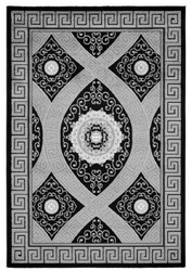 Casa Padrino Living Room Carpet Black / Silver - Various Sizes - Decoration Accessories