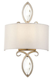 Casa Padrino Wall Lamp Brass / Cream 28 x 14 x H. 49 cm - Elegant Neoclassical Wall Light
