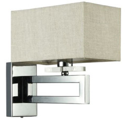 Casa Padrino Art Deco Wall Lamp Silver / Khaki 12 x 24 x H. 24 cm - Art Deco Wall Light