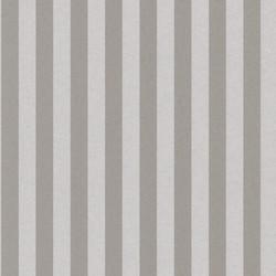 Casa Padrino Barock Textiltapete Grau / Silber 10,05 x 0,53 m - Barock Tapete mit Streifen