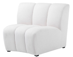 Casa Padrino Luxury Couch White / Black 109 x 95 x H. 83.5 cm - Curved & Extendable Luxury Living Room Sofa