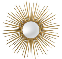 Casa Padrino luxury mirror antique gold Ø 96 cm - Stainless Steel Wall Mirror with Convex Mirror Glass - Luxury Quality