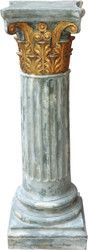 Casa Padrino Baroque Column Gold / Green 82.5 x 28 cm - Antique style column