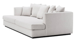 Casa Padrino Luxury Living Room Sofa White / Black 265 x 151 x H. 90 cm - Couch with 7 Cushions - Luxury Living Room Furniture 4