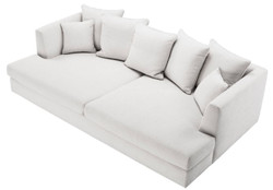 Casa Padrino Luxury Living Room Sofa White / Black 265 x 151 x H. 90 cm - Couch with 7 Cushions - Luxury Living Room Furniture 5