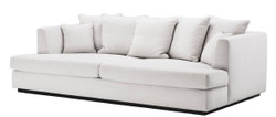 Casa Padrino Luxury Living Room Sofa White / Black 265 x 151 x H. 90 cm - Couch with 7 Cushions - Luxury Living Room Furniture