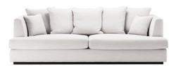 Casa Padrino Luxury Living Room Sofa White / Black 265 x 151 x H. 90 cm - Couch with 7 Cushions - Luxury Living Room Furniture 2