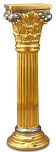 Casa Padrino Baroque Ceramic Column Gold / Silver 28 x 28 x H. 88 cm - Baroque Furniture