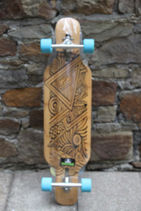 Koston Longboard Drop Through Complete Cruiser Tian Jun 40.0 x 10.0 inch - Stock Ware with Slight Scratches