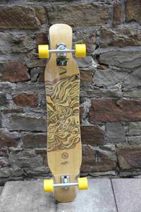 Koston Bamboo Longboard Complete Board Dancer Cruiser Illusion 46.0 x 9.0 inch - Stock Ware with Slight Scratches