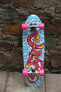 Clans Cruiser Oldschool Skateboard Graffity 8.25 x 27.75 inch - Stock Ware with Slight Scratches