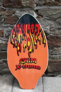 Skimboard Wood 93cm Orange Flames Skim X-treme Model 273 - Lagerware mit leichten Kratzern – Bild 1