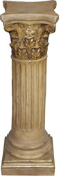 Casa Padrino Baroque Pillar Antique Gold 85 x 28 cm - Antique style pillar