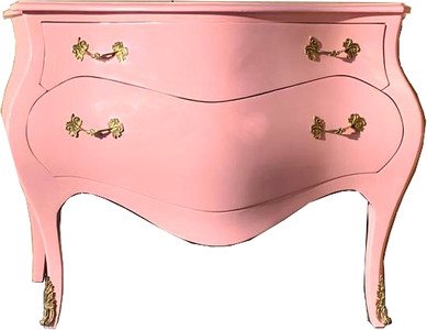Casa Padrino Baroque chest of drawers 120 cm pink / gold - sideboards baroque furniture – Bild