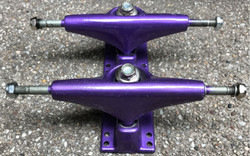 V-Skateboard Trucks Set Purple 7.5 inch - Stock Ware with Slight Scratches 001