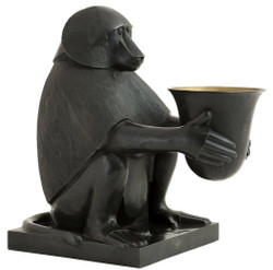 Casa Padrino Luxury Art Deco Bronze Table Lamp Monkey Baboon Bronze / Gold 49 x 60 x H. 60 cm - Art Deco Living Room Lamp - Luxury Quality