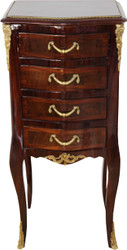 Casa Padrino Baroque chest of drawers mahogany inlaid with 4 drawers 80 x 36 x 30 cm - antique style