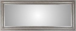 Casa Padrino antique style wall mirror silver 202 x H. 84 cm - Baroque living room furniture