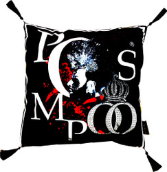 Harald Glööckler Designer Cushion Pompöös by Casa Padrino Black / White with Rhinestones - Art Collection -