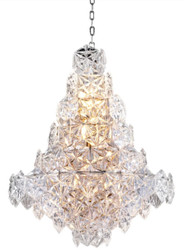 Casa Padrino luxury chandelier silver / clear glass Ø 60 x H. 76 cm - Hotel & Restaurant Chandelier - Luxury Quality