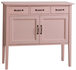 Casa Padrino country style dresser with 3 drawers and 2 doors pink 100 x 41 x H. 90 cm - Country Style Furniture