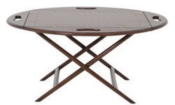 Casa Padrino Luxury Coffee Table / Tray Dark Brown 87 x 66 x H. 42 cm - Oval Mahogany Coffee Table - Serving Table - Luxury Furniture