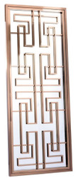 Casa Padrino luxury stainless steel wall mirror rose gold 85 x 6 x H. 220 cm - Designer Mirror - Wardrobe Mirror - Living Room Mirror