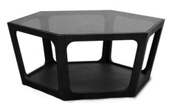 Casa Padrino luxury coffee table black 90 x 78 x H. 35 cm - Living Room Table with Black Tinted Glass Top - Living Room Furniture - Luxury Furniture
