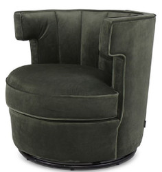 Casa Padrino luxury swivel armchair dark green 79 x 62 x H. 73 cm - Round Living Room Armchair - Velvet Armchair - Living Room Furniture