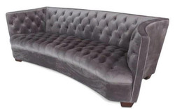 Casa Padrino Luxury Chesterfield Velvet Sofa Gray / Brown 221 x 99 x H. 72 cm - Chesterfield Furniture