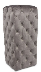 Casa Padrino Luxury Chesterfield Velvet Column Gray 45 x 45 x H. 101 cm - Chesterfield Furniture