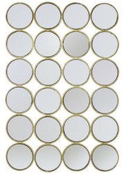 Casa Padrino Luxury Stainless Steel Wall Mirror Gold 80 x H. 120 cm - Designer Mirror - Luxury Collection