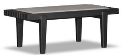 Casa Padrino Luxury Bench Black / Beige 160 x 47 x H. 42 cm - Solid Oak Bench with Genuine Leather