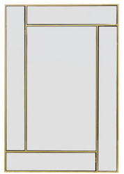 Casa Padrino Luxury Stainless Steel Mirror / Wall Mirror Gold 60 x H. 90 cm - Luxury Collection