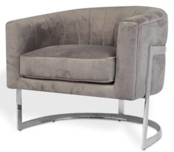 Casa Padrino poltrona di lusso in velluto grigio / argento 70 x 66 x H. 68  cm - Mobili per Soggiorno di Design