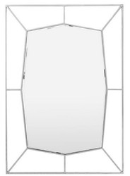 Casa Padrino designer wall mirror silver 67 x H. 100 cm - Stainless Steel Mirror - Luxury Decoration Accessories