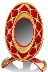 Casa Padrino Baroque Picture Frame Red / Gold 26 x 16 x H. 36 cm - Magnificent Ceramic Picture Frame with Swarovski Crystal Glass
