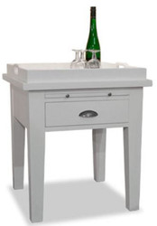 Casa Padrino country style side table with removable tray white 60 x 68 x H. 60 cm - Country Style Furniture