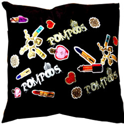 Harald Glööckler Designer Cushion Pompöös by Casa Padrino Lipstick with rhinestones - Art Collection -