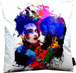 Harald Glööckler designer cushion Pompöös by Casa Padrino with rhinestones Purple-Blue - Art Collection -