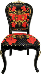 Pompöös by Casa Padrino Luxury Baroque Dining Chair Roses - Pompööser Baroque Chair designed by Harald Glööckler