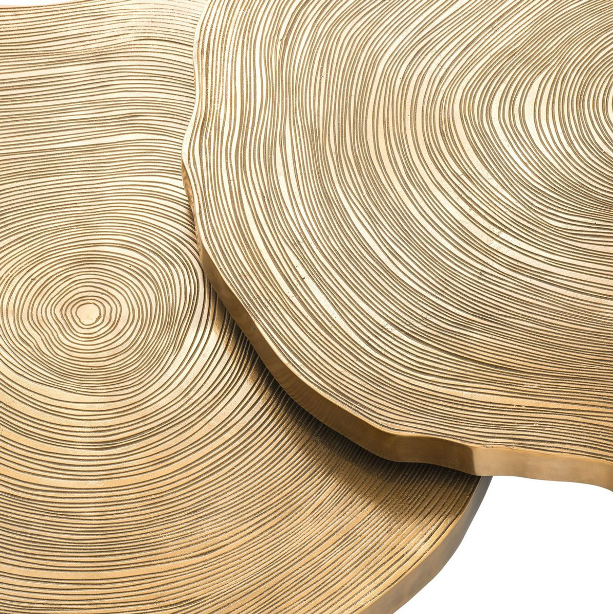 casa padrino luxury coffee table set brass black luxurious coffee tables with table plates in tree slices design