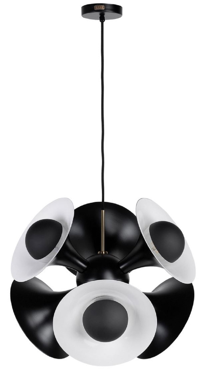 X 55 H53 Pendelleuchte Hängeleuchte Wohnzimmer Luxus Kollektion Lampe Weiß Casa Schwarz Padrino Cm Aluminium f67gyb