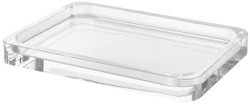 Casa Padrino Luxury Tray 27.5 x 20.5 x H. 3 cm - Rectangular Crystal Glass Serving Tray - Gastronomy Accessories