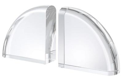 Casa Padrino luxury crystal glass bookends set 22 x 7.5 x H. 22.5 cm - Luxury Decorative Accessories
