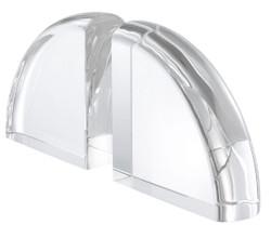 Casa Padrino luxury crystal glass bookends set 22 x 7.5 x H. 22.5 cm - Luxury Decorative Accessories 2