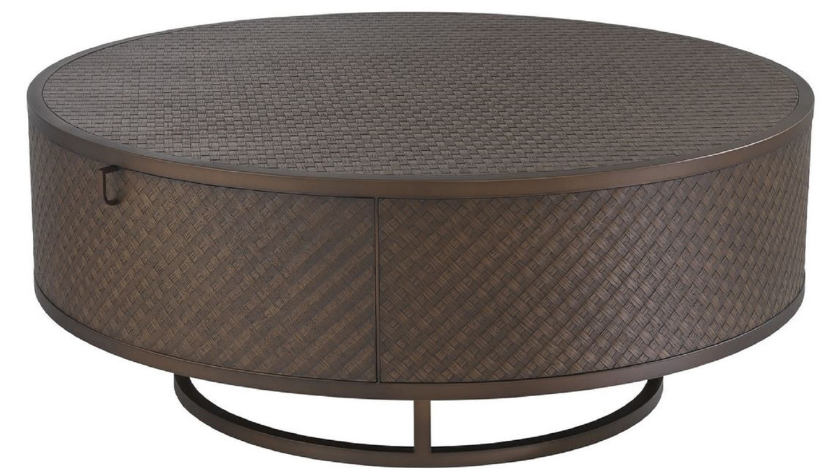 - Casa Padrino Luxury Coffee Table Bronze Ø 100 X H. 40.5 Cm - Round