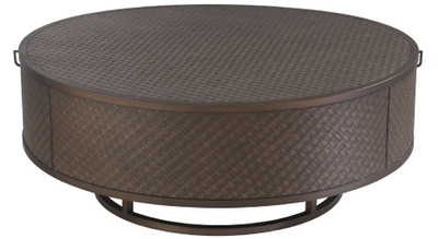 Casa Padrino luxury coffee table bronze Ø 100 x H. 40.5 cm - Round Living Room Table with 2 Drawers - Luxury Living Room Furniture  – Bild 2